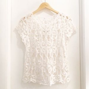 Gilly Hicks Sydney Lace Top White Med/Large